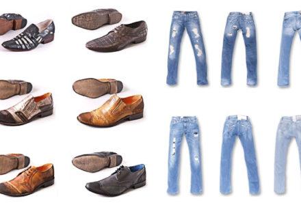 obuwie i jeansy